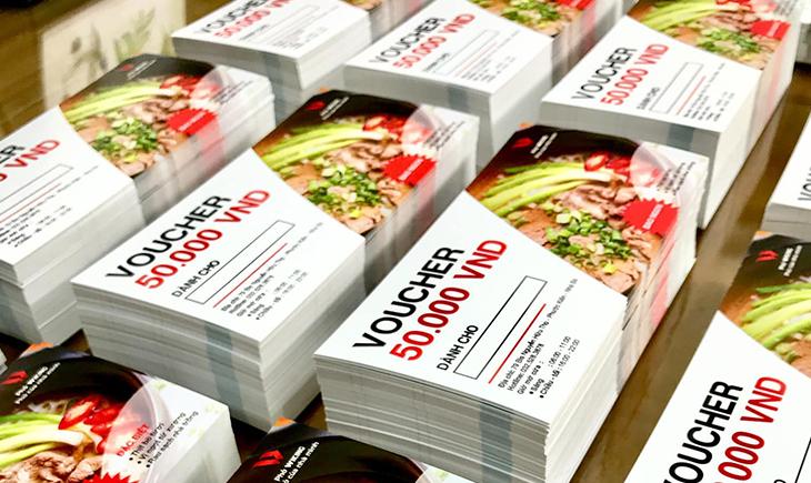 Khuyến mãi in voucher, phiếu quà tặng tại Gora 2020