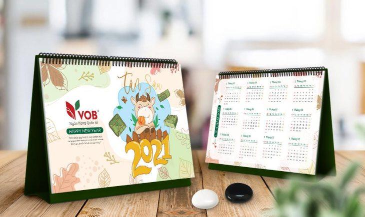In Lịch bàn – Bao lì xì Tết 2021 – Mẫu đẹp thiết kế độc đáo